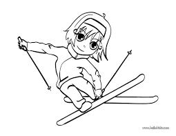 Coloriage Ski Les Beaux Dessins De Sport à Imprimer Et Colorier