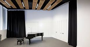 Sound Dampening Curtains Uk by Acoustic Curtains Sound Absorbing Maple