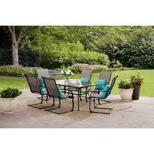 Walmart Patio Tables Only by Mainstays Bristol Springs 7 Piece Dining Set Grey Walmart Com
