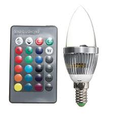 big promotion e14 3w rgb led light bulb 16 color changing candle