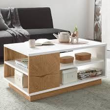 wohnzimmer kombination im modernen stil lombardo 61 in wotan eiche nb mit weiß hochglanz und hirnholz applikation