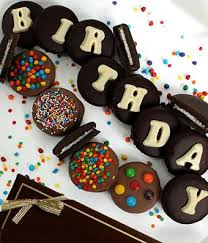 BIRTHDAY Belgian Chocolate Covered OREO Cookies 14 Pieces next day flower delivery