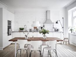 White Kitchen Ideas Locutus Designs With Wood Floors Light Wooden Floor Brick Scandinavian Tile Wall Colour