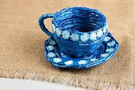 Stylish Handmade Paper Basket Flower Pot Design Newspaper Craft Cachepot