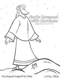 Abraham Covenant With God Coloring Page Sketch