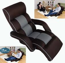 US $199.0 |Mesh Fabric Armchair Design Floor Folding 14 Position Adjustable  Living Room Furniture Chaise Lounge Upholstered Arm Chair Sofa-in Chaise ...