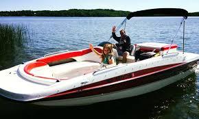 19 bayliner deck boat rental in traverse city getmyboat