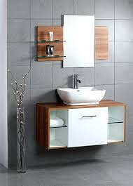 wall mounted bathroom cabinets 18 inch wall mounted walnut finish