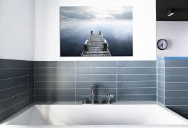 badezimmer gestalten mit wandbildern whitewall