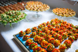 canapes aperitif catering canape tray stock photo image of colored aperitif