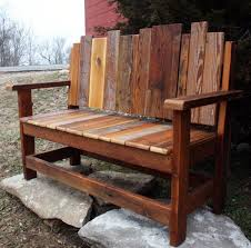 Unfinished Wood Benches Outdoor Bench With Back Design Good Best Classic Natural