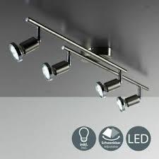details zu led decken leuchte strahler deckenspot 4 flammig gu10 le wohnzimmer küche 12w