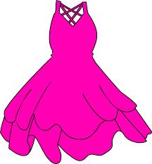 Hot Pink Dress Clip Art