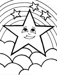 A Cute Start And The Rainbow Coloring Page Download Amp Print