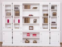 casa padrino landhausstil bücherschrank weiß 300 x 50 x h 230 cm massivholz schrank wohnzimmerschrank büroschrank landhausstil möbel