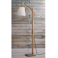 Curved Floor Lamp Base by Modern Rustic Wood Arc Floor Lamp Shades Of Light