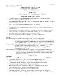 Lab Technician Resume Sample Cover Letter Examples Laboratory Page Letters With Experience
