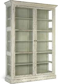 Large Rustic Glass Cabinet In Black Or Cream Sideboards Display