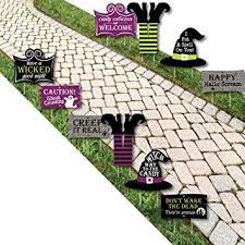 amazon com happy halloween witch lawn decoration signs