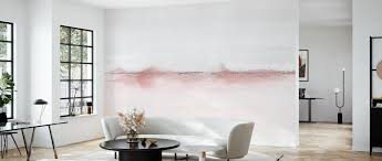 watercolor landscape vi pink and gray