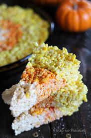 Rice Krispie Treats Halloween Shapes by Candy Corn Rice Krispie Treats Chef In Training