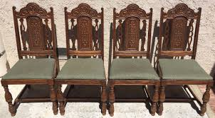 Set Of 4 Oak High Back Dining Room Kitchen Chairs Carved ... Carved Mahogany High Back Ding Side Chairs Collectors Weekly Arm Chair Kiefer And Upholstered Rest From Followbeacon Antique Vintage Set Of 6 Edwardian Oak French Style Fabric Solid Wood Wooden Buy Chairupholstered Chairssolid Beautiful Of Eight Quality Victorian 19th Century Renaissance Throne Four Antiquue Early 20th Art Deco Classical Chinese Fniture A Collecting Guide Christies Pdf 134