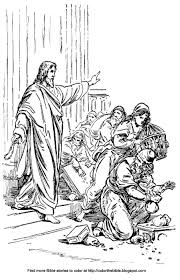 Jesus Cleanses The Temple Coloring Sheet