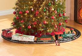 Night Before Christmas Train Sharper Image With Around The Tree Set 91