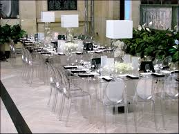 Beautifull Acrylic Square Tables With Ghost Armless Chairs Unique Centerpiece Dining Room Table