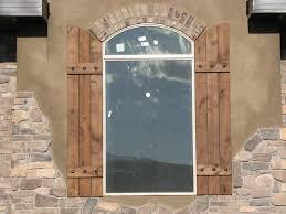 Rustic Exterior Window Shutters