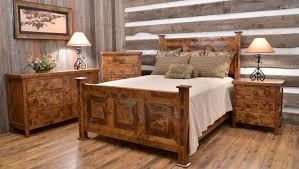 Furniture Rustic Wood Bedroom Stunning