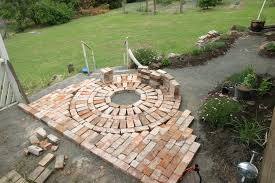 how to lay a garden patio use salvaged bricks for pathways and patios garden reuse ideas