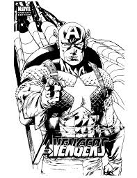 Marvel Comic Captain America Coloring Page