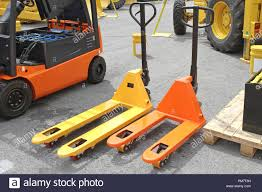 100 Truck Jacks Two Pump S Pallet Forklifts Stock Photo