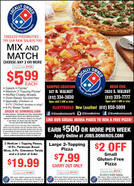 Discounts Coupon For DOMINO'S BLOOMINGTON - Expires 2018-11-05 ... Zumiez Coupon Code 2018 Hotwire Car Rental Codes Voucher Nz Airport Parking Newark Coupons Pasta Bowl Dominos Merc C Class Leasing Deals Pizza Hut 20 Off Coupons Dm Ausdrucken Dominos Dixie Direct Savings Guide Nearbuy Offers Promo Code 100 Cashback Aug 2526 Deals 2019 You Will Never Believe These Bizarre Truth Card Information Online Discount For October Discount New Coupon Gets A Large 2topping Only 599 Flyer