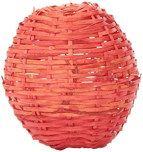 Ware Manufacturing Natural Bamboo Pet Chew Ball - with Bell, Red