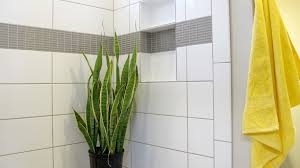 transitional subway tile bathroom idea in grout the floor