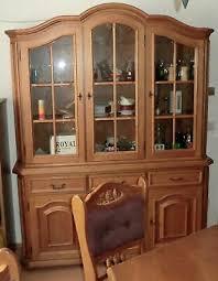 vitrine esszimmer schrank wohnzimmer bauernmöbel möbel eur
