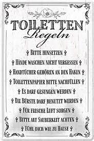 blechschilder lustige toiletten sprüche motive für wc bad klo badezimmer metallschild schild witzige geschenkidee f toiletten regeln 20x30