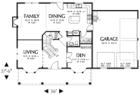 Photo Of Floor Plan For 2000 Sq Ft House Ideas by Colonial Style House Plan 4 Beds 2 50 Baths 2000 Sq Ft Plan 48 161