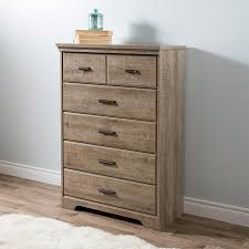 Vaughan Bassett Dresser Drawer Removal by Amazon Com South Shore Versa 5 Drawer Chest Weathered Oak