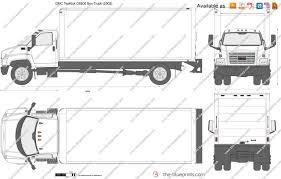 100 Top Kick Truck GMC C6500 Box Vector Drawing