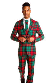 Ugly Christmas Red Plaid Suit The Lincoln Log Love Daddy Suit