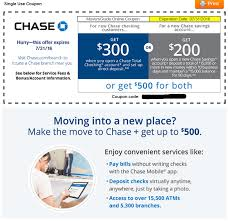 Chase Savings Coupon Code Bank Account Bonuses Promotions October 2019 Chase 500 Coupon For Checking Savings Business Accounts Ink Pferred Referabusiness Chasecom Success Big With Airbnb Experiences Deals We Like Upgrade To Private Client Get 1250 Bonus Targeted Amazoncom 300 Checking200 Thomas Land Magical Christmas Promotional Code Bass Pro How Open A Gobankingrates New Saving Account Coupon E Collegetotalpmiersapphire Capital 200 And Personalbusiness