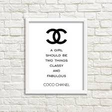 Free Printable Wall Art Quotes Poster Coco Chanel Quote High Fashion Women Gift Digital Print