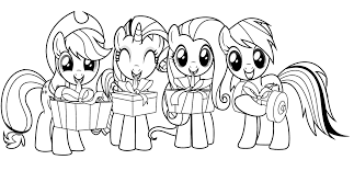Free Coloring Pages Of My Little Pony Power Ponies