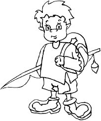 Young Boy Vacation Printable Coloring Pages For Kids