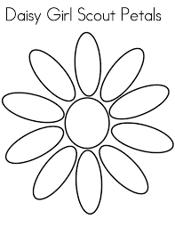 Daisy Flower Girl Scout Petals Coloring Page