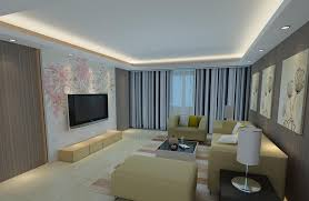 Living Room Wall Design Delightful 15 From Dining 3d With Partition