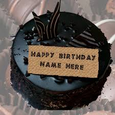 Write Name Happy Birthday Chocolate Cake
